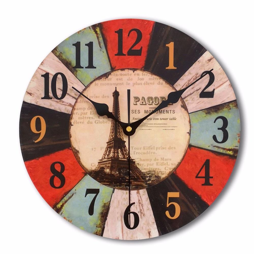 Creative Digital Wall Clock Anchor Ship Decorative Round Clocks Modern Mute  Quartz PVC Hanging Clocks for Living Room Home Decor