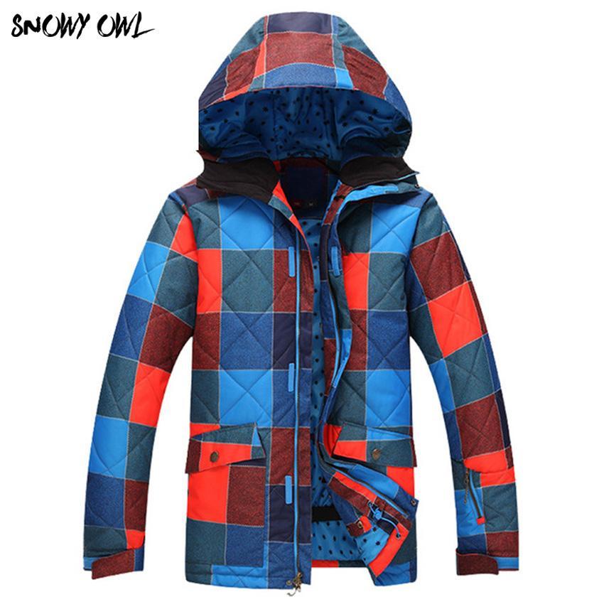 6cb2e55ab945 Brand New Men s Windproof Waterproof Snow Plaid Jacket Men s Skiing ...