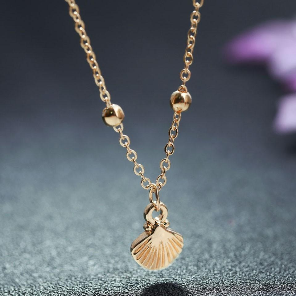 New Exquisite Shell Pendant Women Custom Necklace For Girls Gold Chain  Classic Fashion Wedding Long Necklace Jewelry