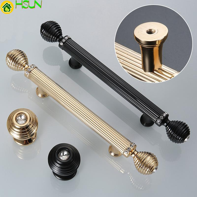 2019 Gold/ Black Door Handles Luxury Drawer Pull Kitchen Cabinet Handles  Door Knob Drawer Straight Handle CRY0046 From Jmqj66, $8.05   DHgate.Com