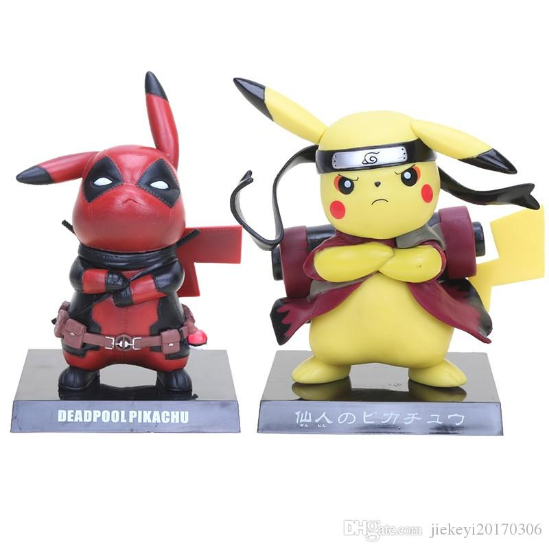 6c4cd3c65 2019 13.5cm Figures Deadpool Pikachu Captain America Pikachu PVC Action  Figure Collectible Model Toy From Jiekeyi20170306, $17.19 | DHgate.Com