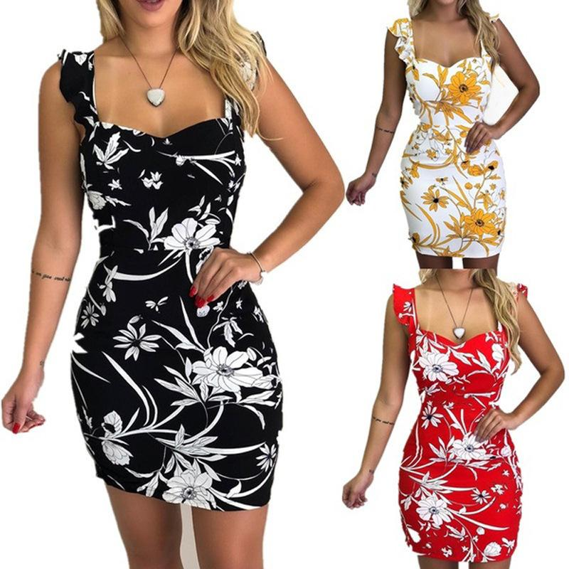 a89c1760d 2019 New Fashions Women'S Dress Beauty Off Shoulder Slim Slimming Floral Printed  Summer Dresses Plus Size 3XL Short Skirts Women S Clothing Long Sundresses  ...