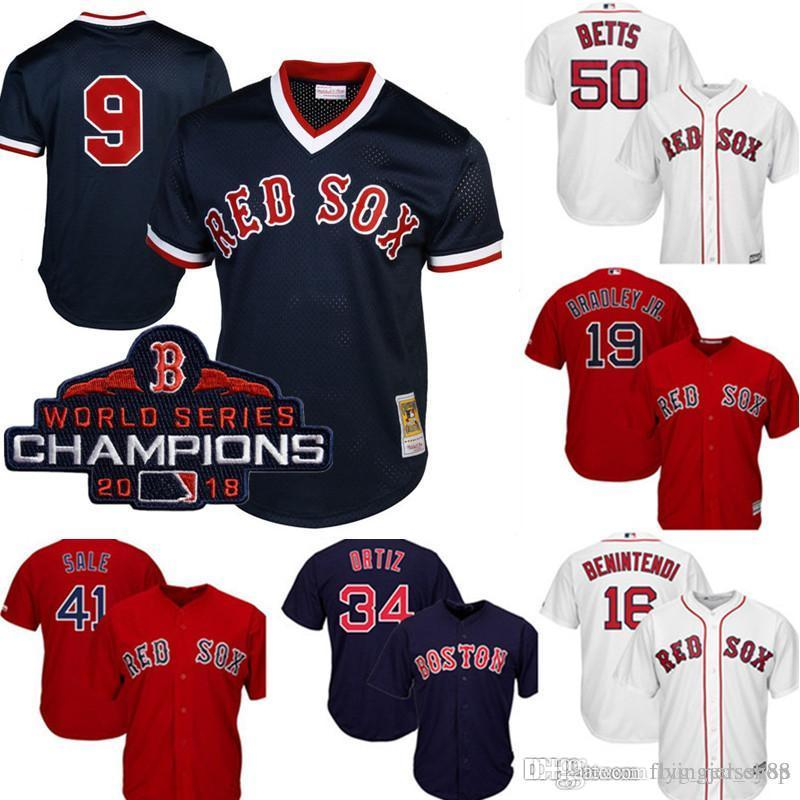 outlet store 89f7f b6b0e Retro Mesh Boston Top Red Sox Ted Williams Jersey Men's Majestic Scarlet  Cool Base Player Jersey Embroidery Baseball Jerseys M-XXXL