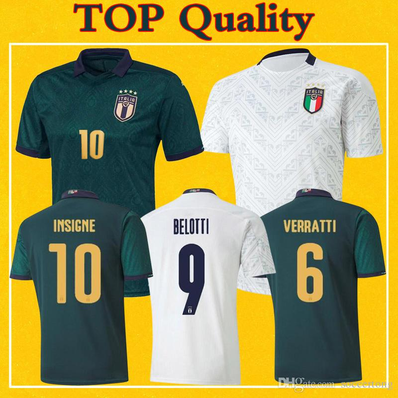 2020 Italia Italy Jersey Mens Kids Away Third Soccer Jerseys INSIGNE JORGINHO BONUCCI 20 21 Maillot Italie TOP Quality Football Shirt