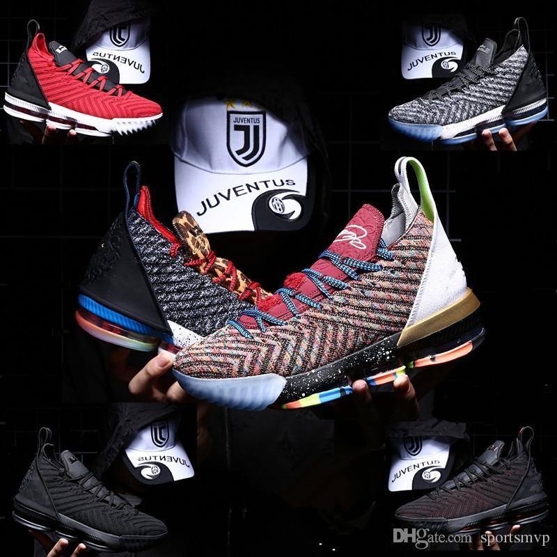 new product ebba8 2b5e9 Großhandel 2019 Männer Frauen Kinder Lebrons 16 Basketballschuhe Lebron  Multi Color Sneaker 16s Herren Sportschuhe König Lbj James Jugend Jungen  Uns 5,5 12 ...