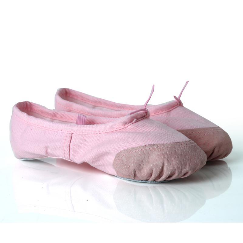 cdaad5da66 Compre Criança E Adulto Ballet Pointe Sapatos De Dança De Lona Sapatilhas  Planas Sapatos De Bailarina Crianças Meninas De Dança De Ballet Ginástica  Mulheres ...