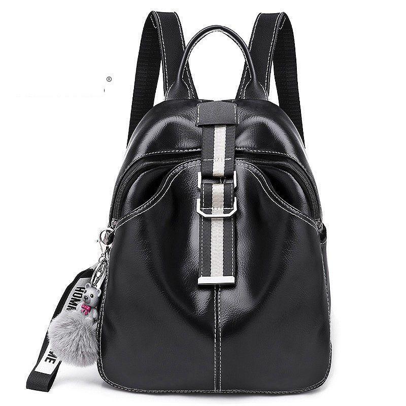 Good Quality Solid Backpack Women Vintage Girls School Bag For Ladies Black  Pu Leather Mochila Feminina Rucksack Mochilas Mujer 2019 Book Bags Herschel  ...