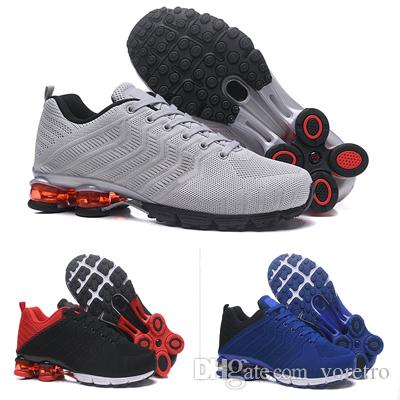 dd114b20b2 2019 2019 Mens Shox R4 Sneakers Men Shox R4 Basketball Shoes Tn Men Knit  Running Shoes With Shoes Box Size 40 46 From Voretro, $99.5 | DHgate.Com