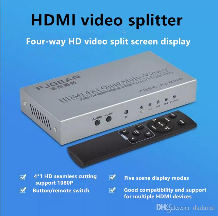 HDMI split screen four input and one output screen splitter