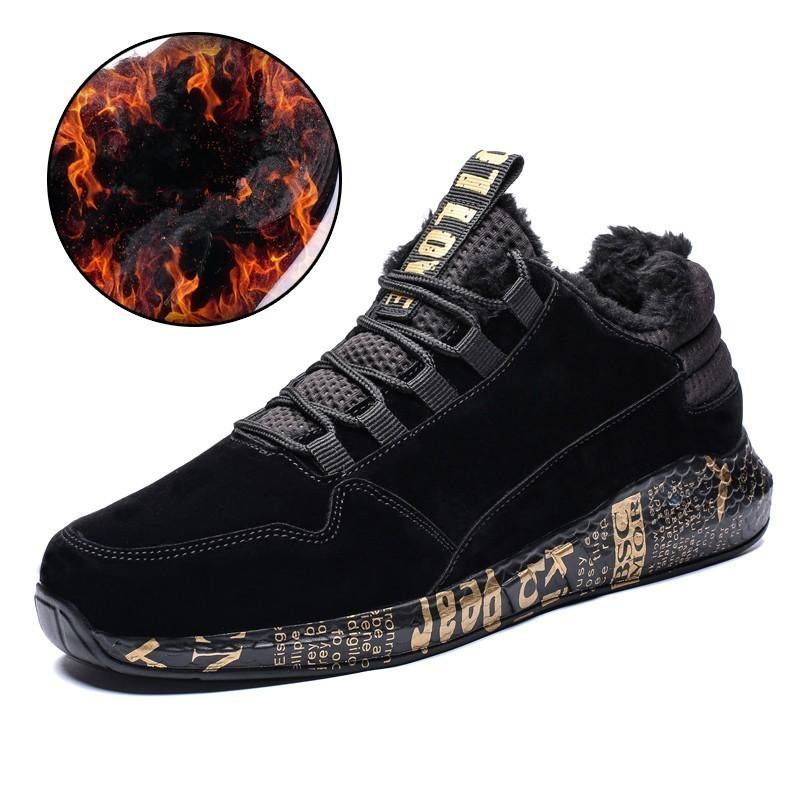 2018 New Winter Shoes Men Warm Stylish Popular Casual Shoes Mens Soft Style  Comfortable Snow Sneakers Plush Light Male Sapatilha Cheap Shoes For Women  ... e59daaf72