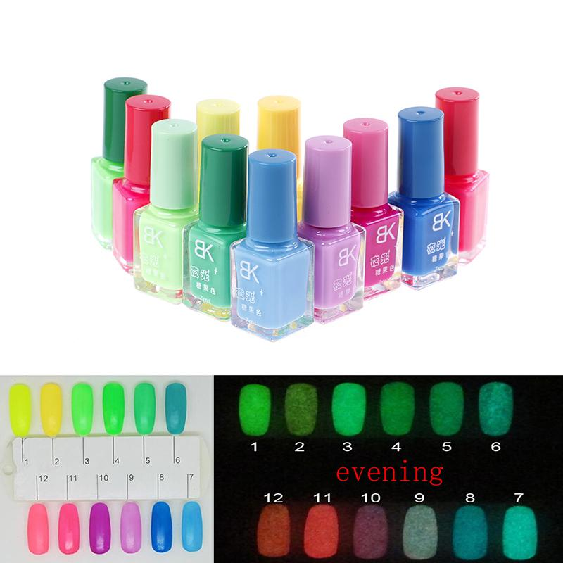 Candy Nail Art Luminous Paint Nail Polish Neon Lacquer Luminous ...