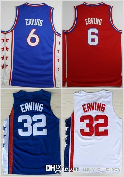 44efdbdbe 2019 NCAA College Philadelphia 6 Dr J Julius Erving Jersey 76ers Men  32  Jerseys For Sport Fans Team Red Blue White Color Quality Size S 3XL From ...