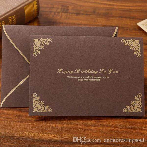 Birthday Cards Customized Korean Creative High End Stamped In A Variety Of Colors Can Be Content Greetings