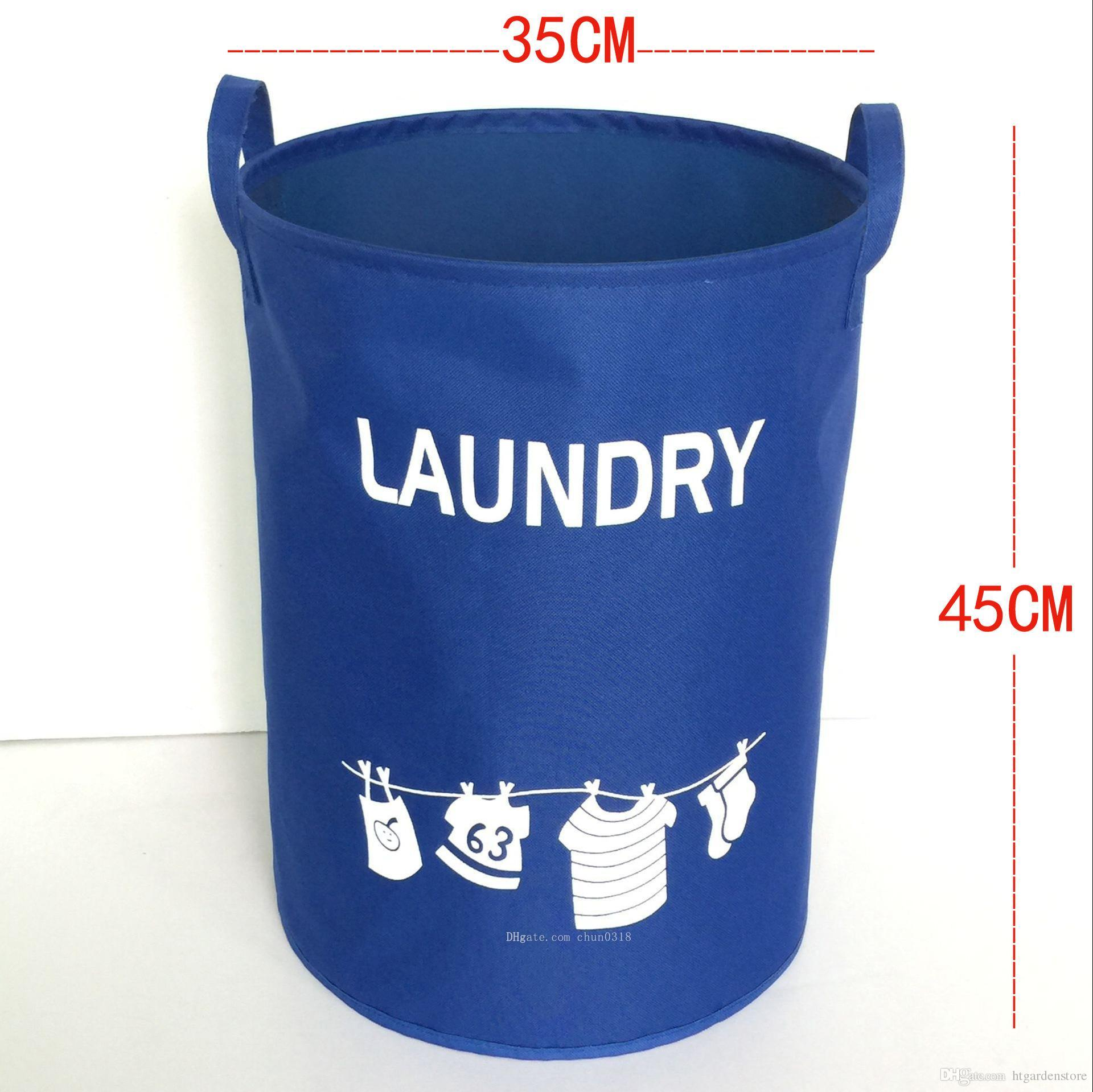 New Hot Large Oxford cloth foldable hamper dirty clothes storage basket laundry basket toy storage basket