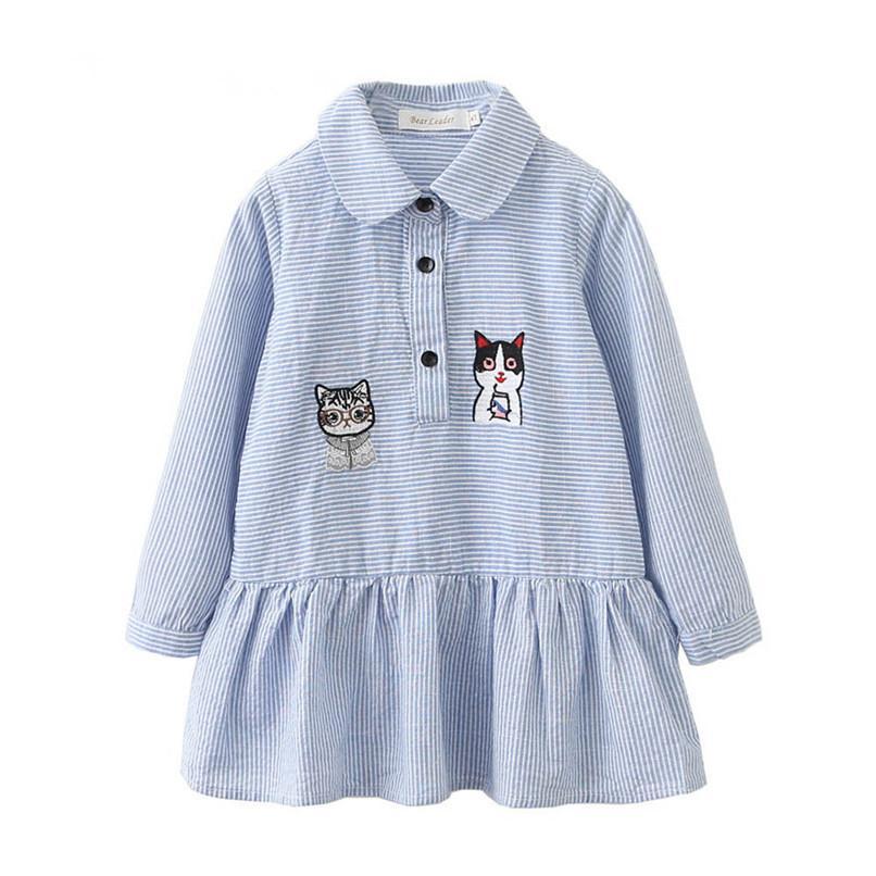 bfe9f6de86a2 2019 Kids Clothes Long Sleeve Girls Dress Toddler Baby Kids Girls ...