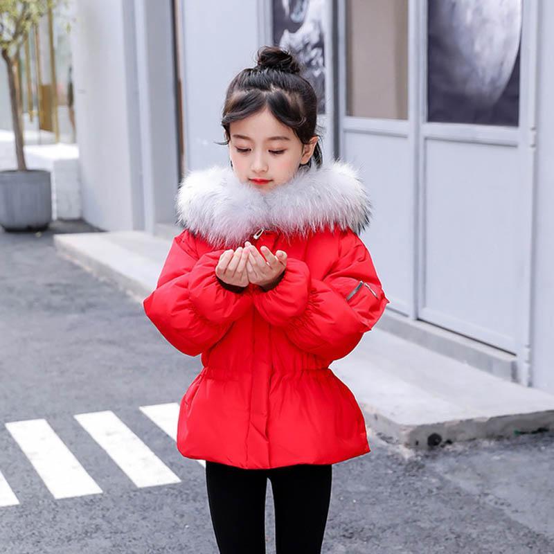 a55cbc10af7c New Fashion Big Fur Collar Children Duck Down Jacket High Quality ...