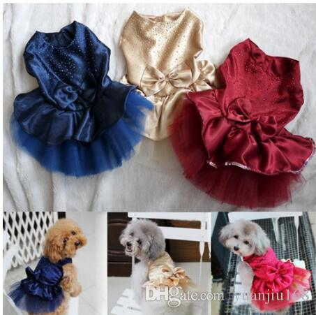 Summer Dog Dress Pet Dog Clothes for Small Dog Wedding Dress Skirt Puppy Clothing Spring Fashion Jean Pet Clothes XS-XXL GB1184