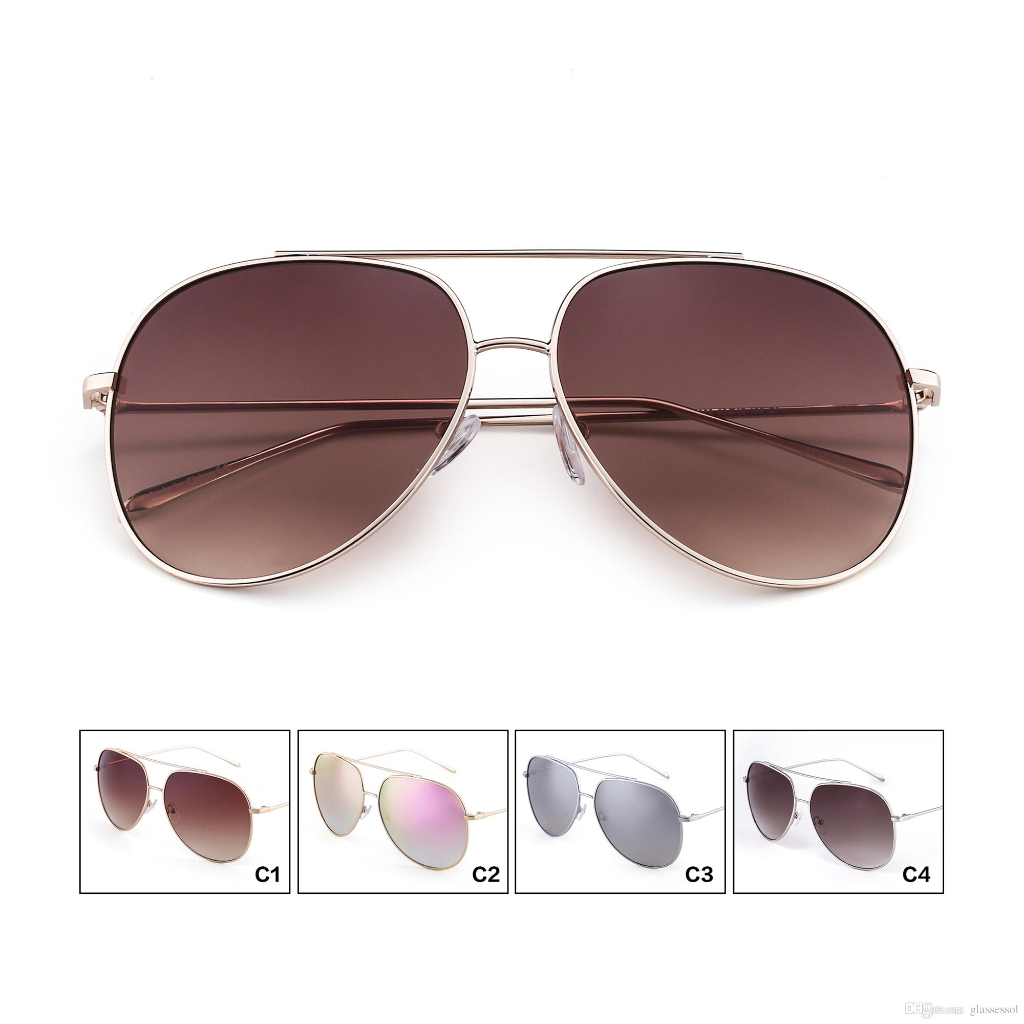 2018 High Quality Brand Sun Glasses Low Price Oversized Aviator ... 78c8b539a6