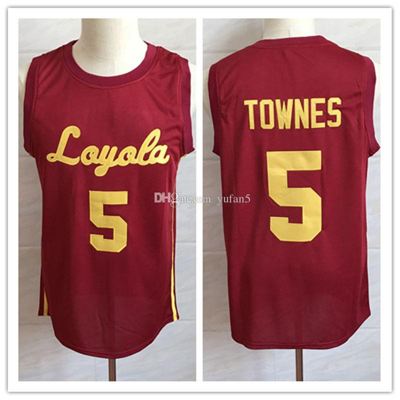 the latest 16b42 a531b #5 Marques Townes Loyola Chicago Ramblers College Retro Classic Basketball  Jersey Mens Stitched Custom Number and name Jerseys