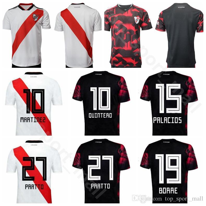 89456c6ab15 2019 Club Atletico CA River Plate Jersey 2019 2020 Soccer 10 QUINTERO 27  PRATTO 19 BORRE 21 FERREIRA 7 SUAREZ Football Shirt Kits Uniform From ...