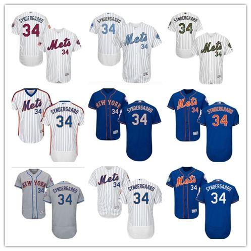 the latest a143e c5ac1 2018 New York Mets Jerseys #34 Noah Syndergaard Jerseys men#WOMEN#YOUTH#Men  s Baseball Jersey Majestic Stitched Professional sportswear
