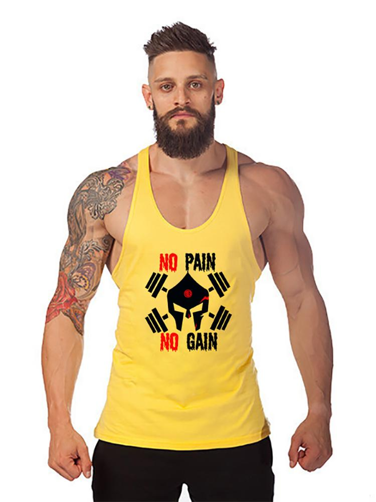 fa65962c Bodybuilding Stringer Tank Top Mens Gyms Clothing Fitness Men Y Back Skulls  Cotton Weightlifting Muscle Vest Sleeveless Shirt Purchase T Shirt Crazy Tee  ...