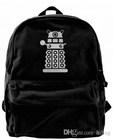 ffe12035c15f Doctor DW Robot Who Character Fashion Canvas Designer Backpack For ...