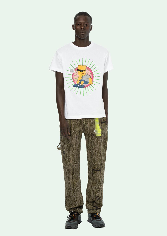 36d464c01 Luxury Mens T Shirt Designer Brand Comfortable Cotton FF Simpson Printing  High Quality Casual Hip Hop Fashion Loose Mens Short Sleeve T Shirt On Shirt  ...