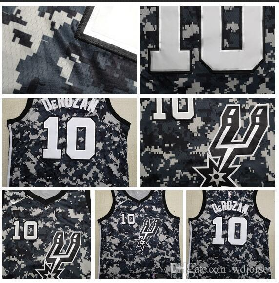 hot sale online 418f4 d1146 City Edition 2019 Men SAN Antonio Basketball Spur Jerseys 10 Derozan City  Edition ALL Stitched Jerseys