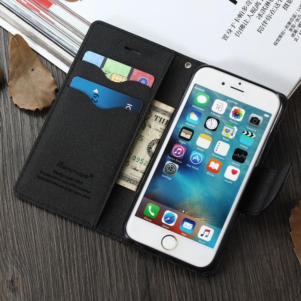 4eb56b923ec Carcasa Movil Personalizada Funda Con Tapa Magnética Para El Libro Flip  Funda Para IPhone 6 6S 7 8 Plus 5 5S SE PU Caja Del Teléfono Celular De  Cuero Para ...