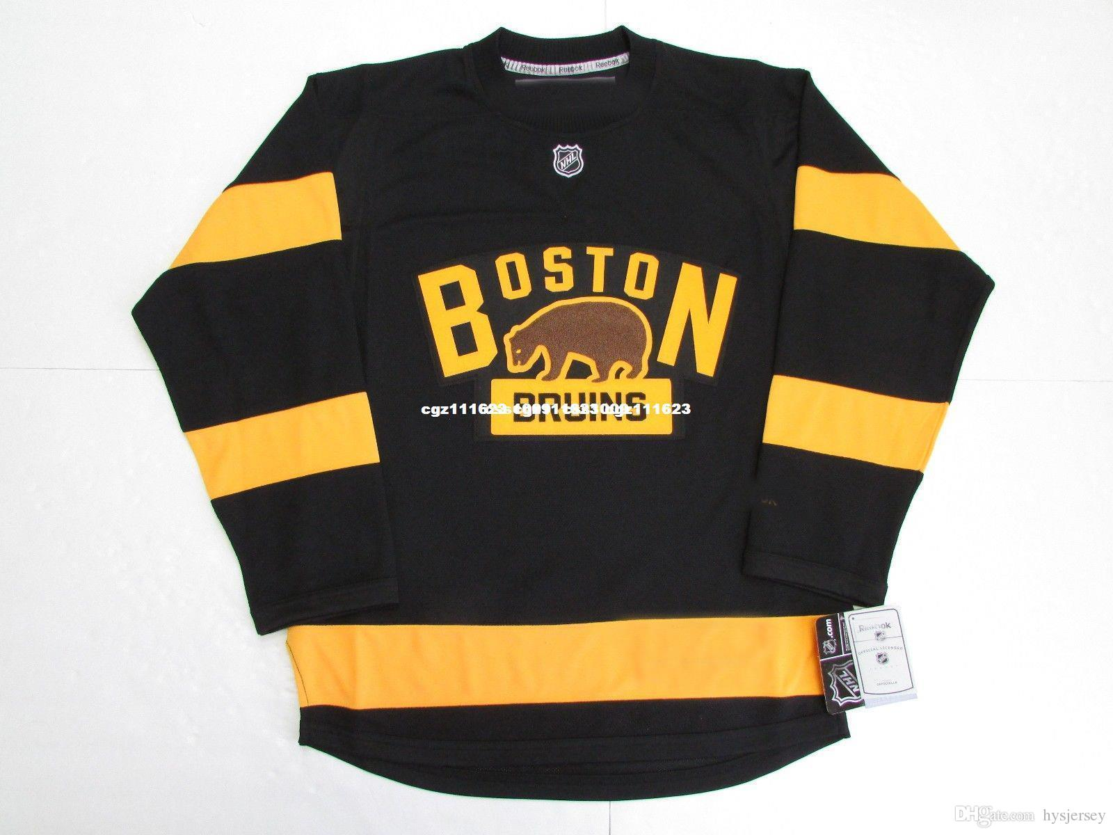 c2d6b2005 2019 Cheap Custom BOSTON BRUINS 2016 WINTER CLASSIC PREMIER HOCKEY JERSEY  Stitch Add Any Number Any Name Mens Hockey Jersey XS 5XL From Hysjersey