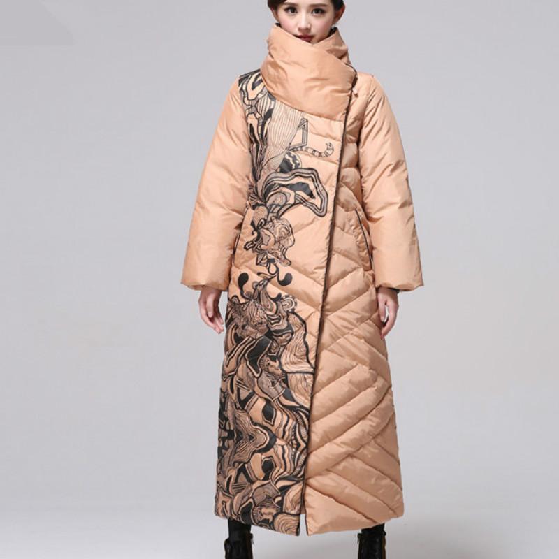 a352f730c Ukraine 2019 Thicker Puffer Jacket Women Tops Loose Parka Plus Size 6XL  White Duck Down Clothes X-Long Winter Coat Female QH325