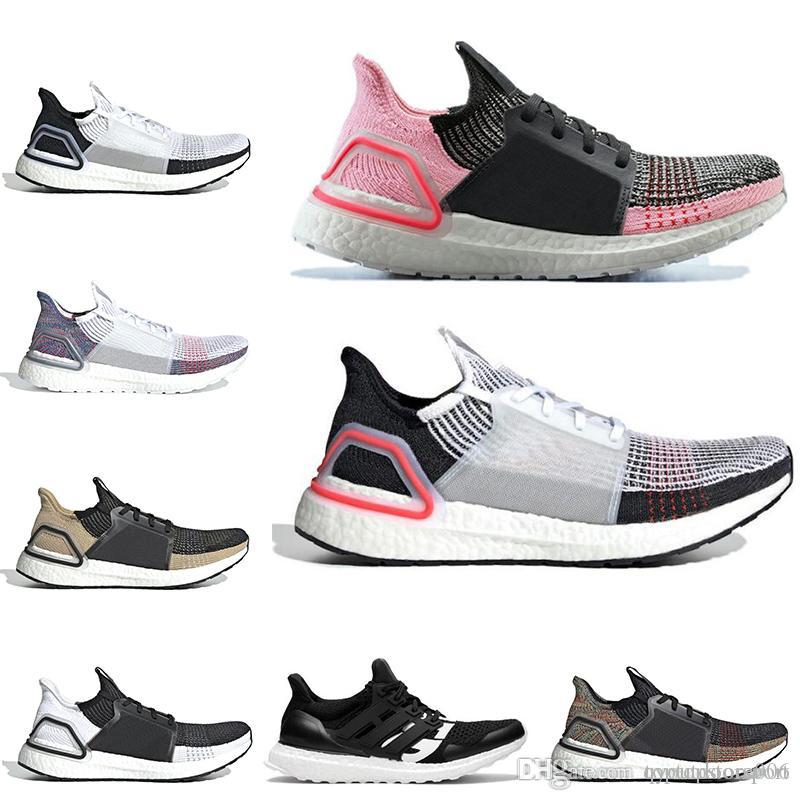 Cheap Ultra boost 19 undefeated running shoes for men women Cloud white black ultraboost mens trainer breathable runner sports sneakers