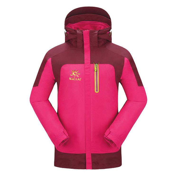 ed86383b95cb0 2019 2019 New Winter Women Softshell Jacket Windstopper Waterproof Hiking  Jackets Outdoor Thick Winter Coats Trekking Two Piece Suit From Portnice