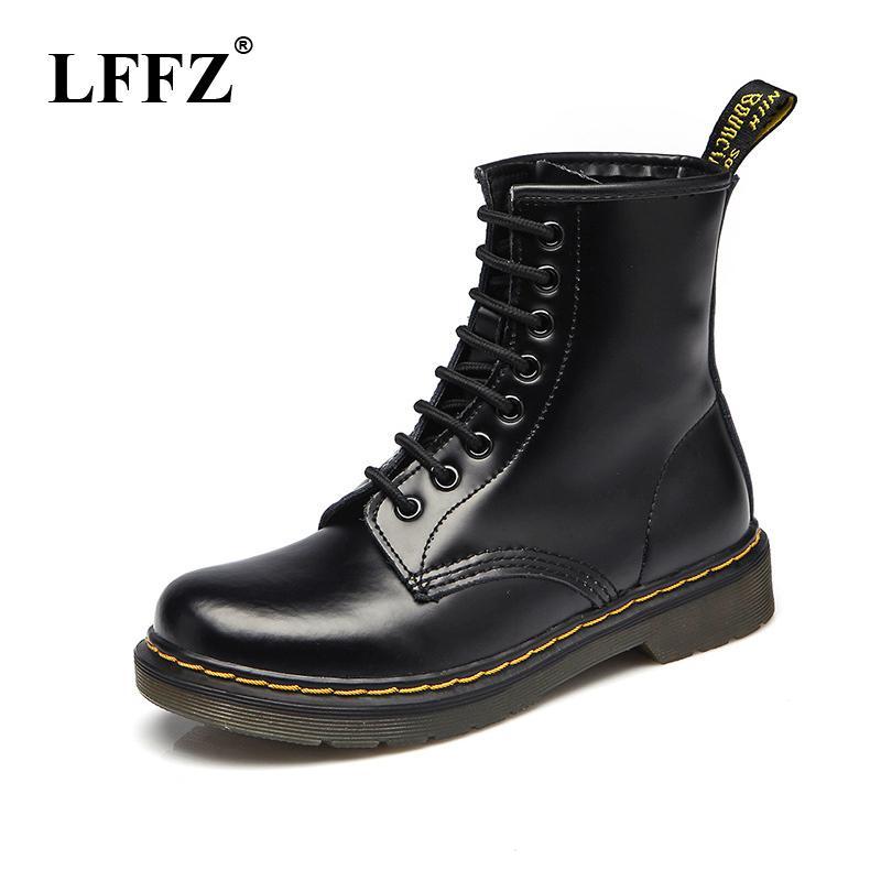 3e3e901d331 2018 High quality Split Leather Men Boots Dr Martin Boots shoes High Top  Motorcycle Autumn Winter shoes man snow Boots ST50
