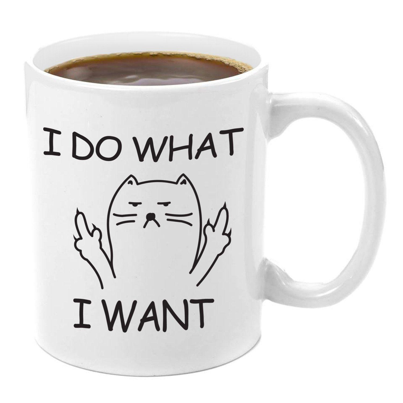 3692ca8bedb I Don't Care Grumpy Cat | Premium 11oz Coffee Mug Gift Set - Kitty Mug Gift  Set, Mugs With Funny Cat Sayings, Give me your Milk,