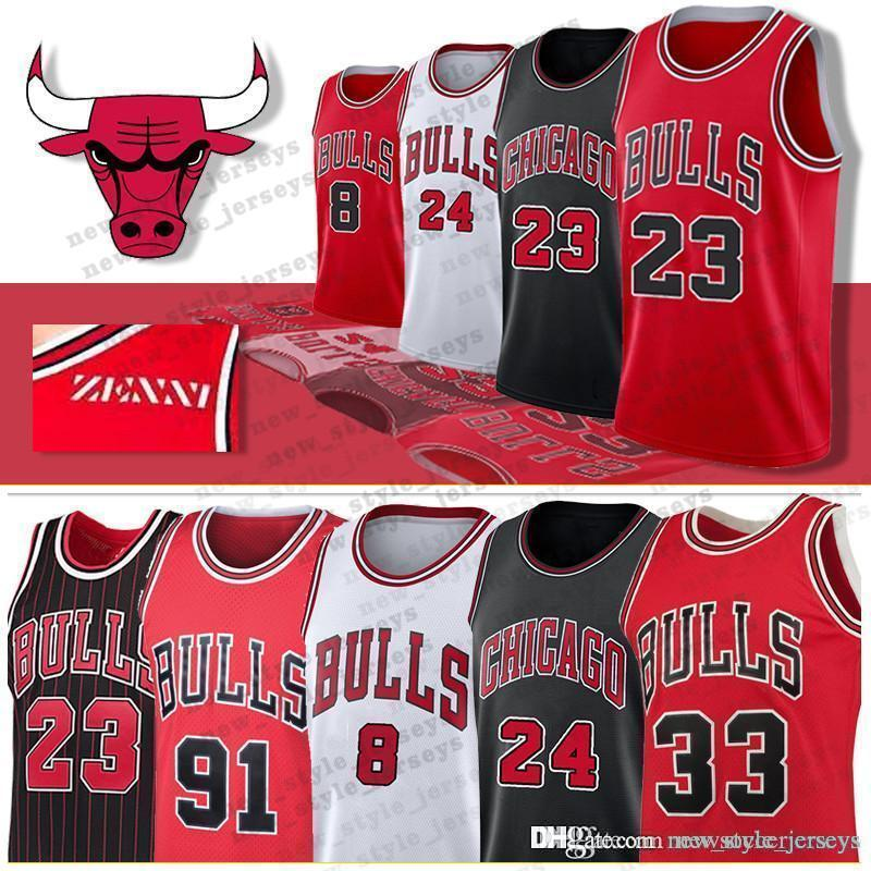 f3af681b2582 2019 Chicago 23 Michael Bulls Jersey Youth Zach 8 LaVine Lauri 24 ...