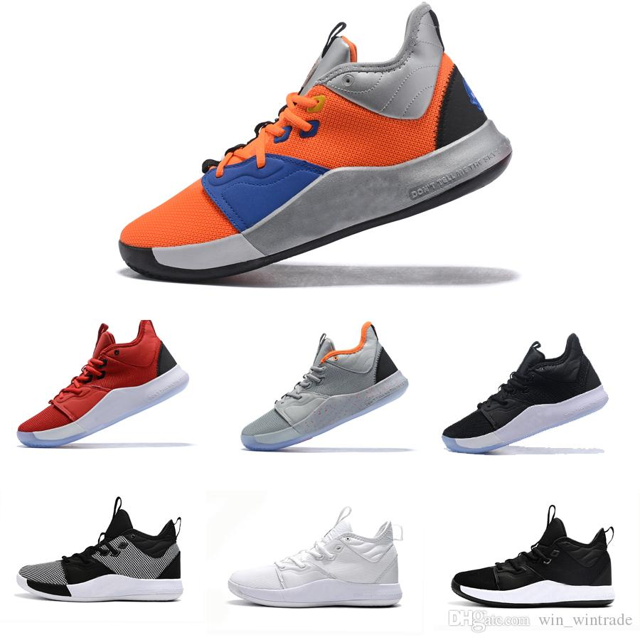 the latest 54813 52325 2019 Paul George III sneaker pg 3 nasa black white bhm pg3 all star gs  basketball shoes for men