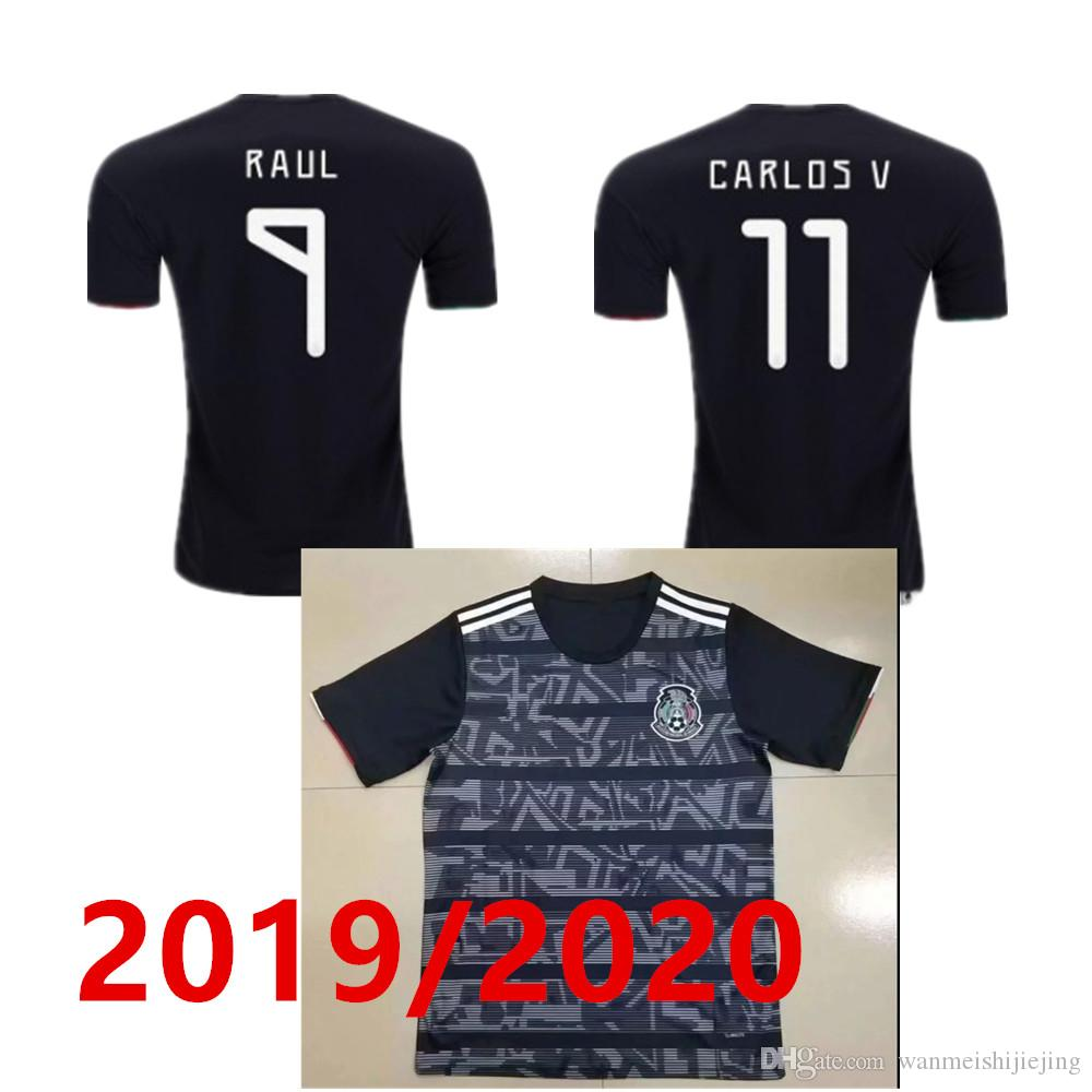 the best attitude 003ab 429b7 Mexico Away Jersey 2019 2020 H.LOZANO H.HERRERA R.MARQUEZ CHICHARITO  A.GUARDADO LAINEZ 22 Soccer Jersey 19 20 mexican football shirt