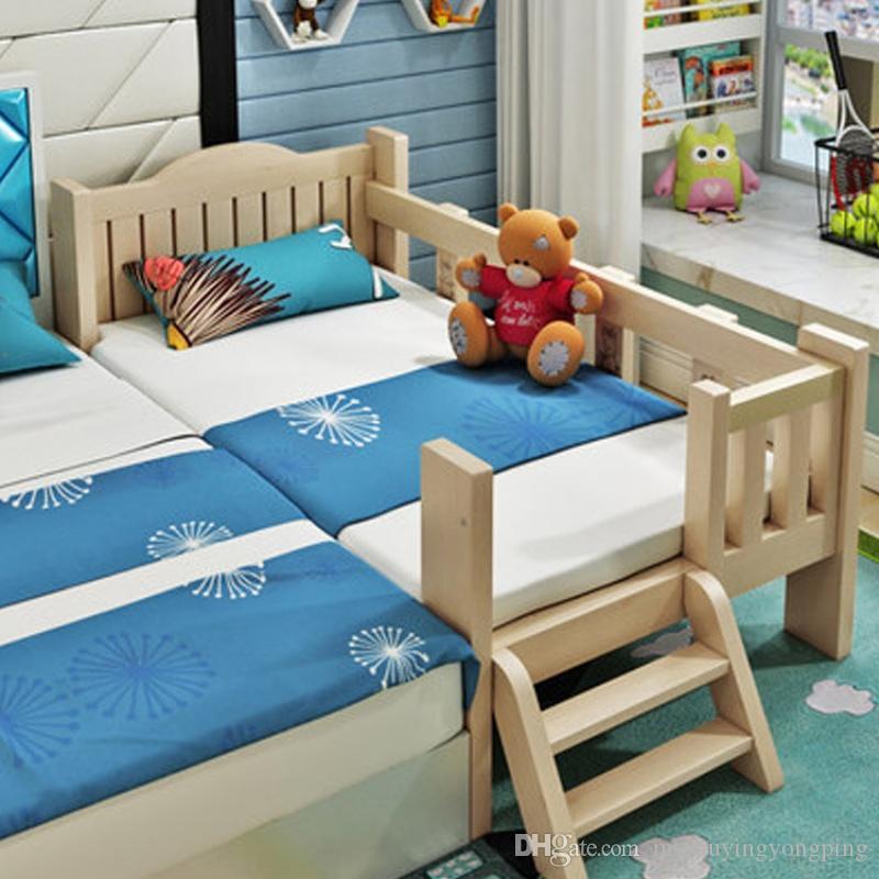 Compre cama para ni os con empalmes de madera maciza con for Fabrica de camas infantiles