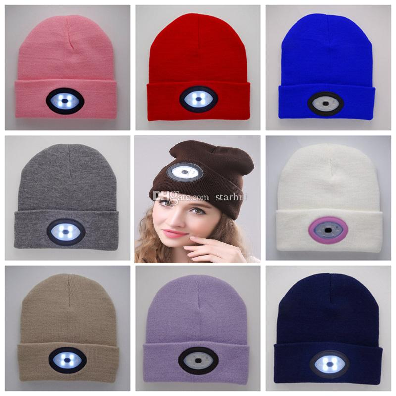 0dbfa482 LED Beanies Cap Hat Women Men Winter Warm USB Charge Caps Knitted Caps Glow  Beanie Outdoor Christmas Party Hats WX9 1120 Bday Hats Beach Party  Decorations ...