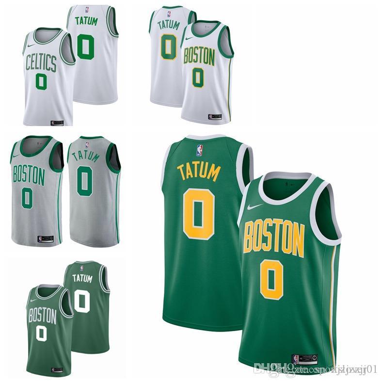 wholesale dealer d38e5 37f1c 2019 11 Kyrie Irvings Celtic Jersey The City Boston 0 Tatum Basketball  Jersey NEW