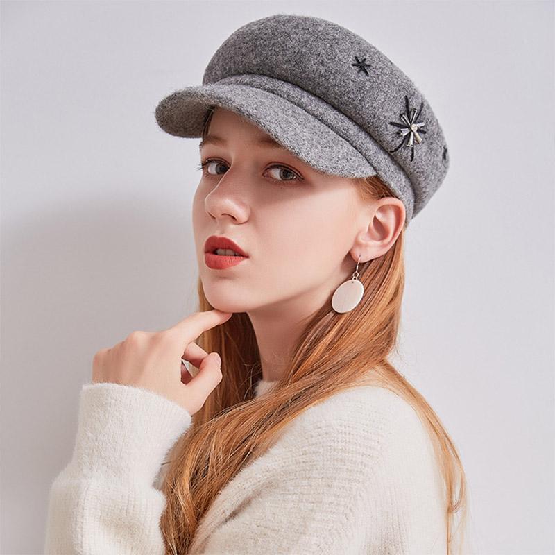 2018 Fashion Octagonal Caps Girls Winter Beret Hats Women Wool Warm Beret  Cap Women Snow Brand Newsboy Hats Dome Soft Flat Hat UK 2019 From  Taihangshan b93108397e6