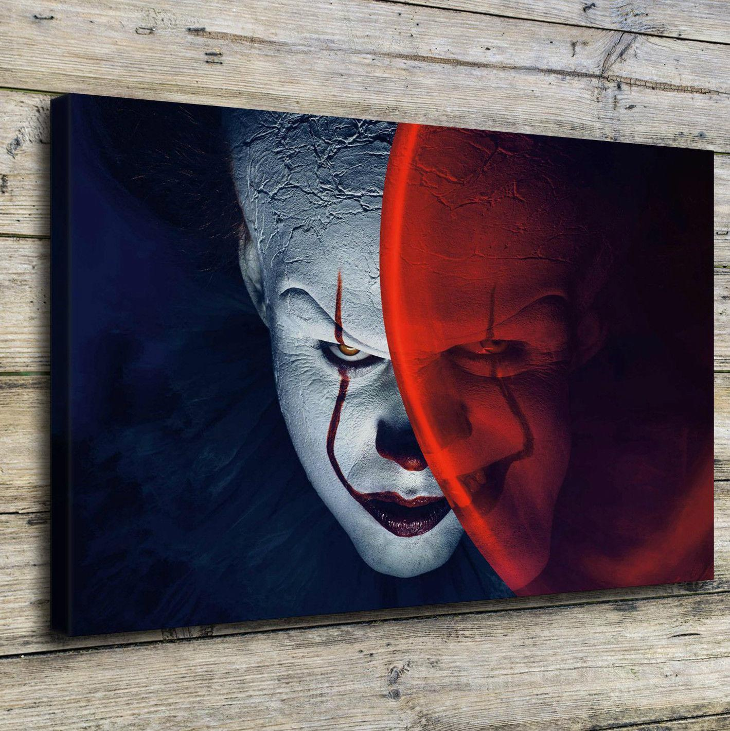 2019 Clown Horror MovieHome Decor HD Printed Modern Art Painting On Canvas Unframed Framed From Qq6241139 704