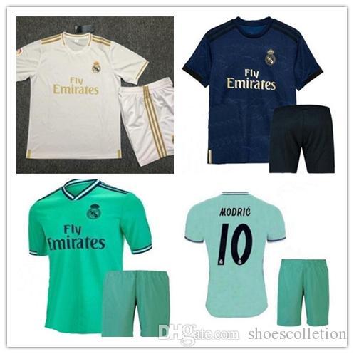 buy online 3cf77 e97ee 2020 Kids Kit Hazard Real Madrid home away third Soccer Jersey youth boy  Soccer shirt Modric KROOS ISCO ASENSIO BALE Football uniform