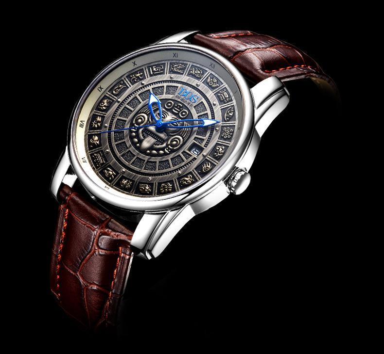 0565a1076fd Compre Padrão Maia Relógios Mecânicos Automáticos Mens Relógios Top Marca  De Safira De Couro Luminoso Original Relógio Homens Relogio Masculino De  Zyj3496