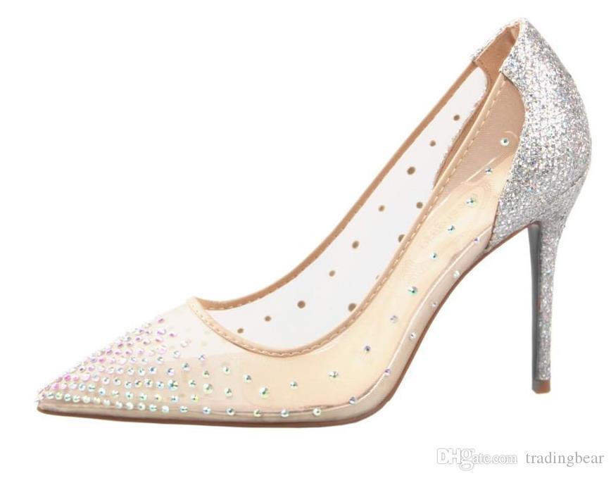 kutu çıplak elmas taklidi meshy babetler lüks tasarımcı ayakkabı büyüklüğü 34 40 için kırmızı taban ayakkabı