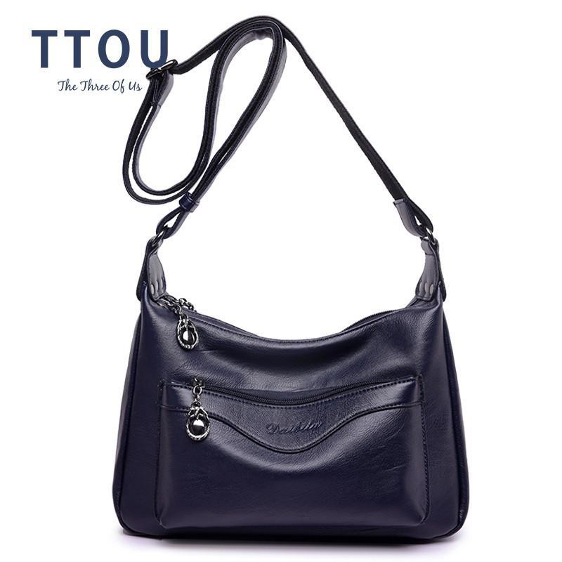 TTOU Women Hobos Handbag Brand Fashion Zipper PU Leather Shoulder Bag  Elegant Ladies Messenger Bag Female Tote Shopping Duffle Bags Messenger Bags  For Men ... 41dc75c970808