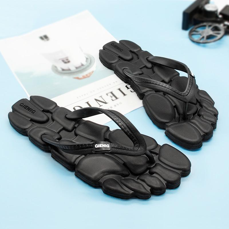 817cea0c08f05 GieniG 2018 Summer Men Outdoor Slippers Leisure Fashion Flip Flops Anti  Slip Clip Foot Flat Comfortable Sandals Men Wear Resist Kids Boots Men  Boots From ...