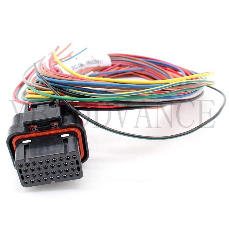 7-1866487-1 34 Pin Amp Tyco Auto Wire Harness Connector With 400mm on